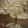 Gorgeous Pressed and Etched EAPG Compote