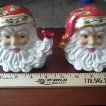 Very Rare Christopher Radko Salt & Pepper Shakers