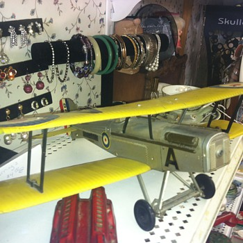 Large scale older model airplane.  A French DeHaviland? - Toys