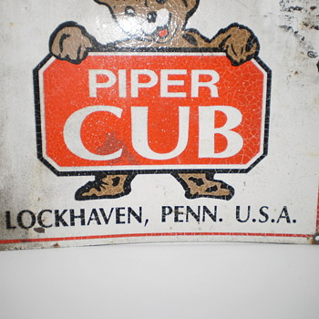 Piper Cub Aircraft Sign - Advertising
