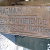"NJ CAST IRON ROAD SIGN, 18""X36""..HEAVY"