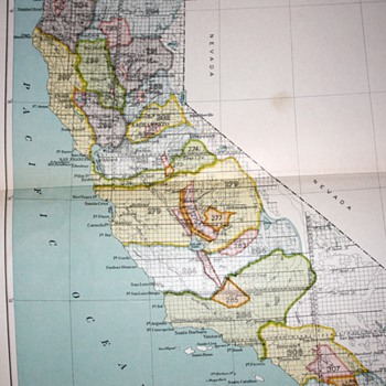 1899 - Bureau of American Ethnology - California Map Showing Native Territories Pre-Settlement - 1898