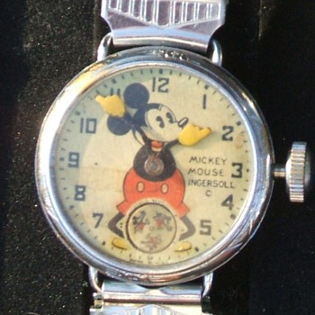 1933-37 Mickey Mouse Wristwatch Comparison Photos - Wristwatches
