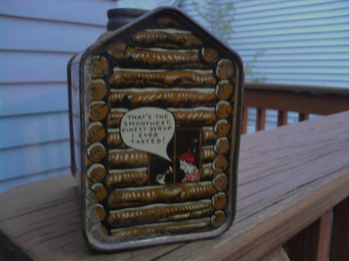 Amazing photo of Another Towles's Log cabin Syrup Tin Collectors Weekly with #456286 color and 1200x900 pixels