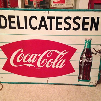 Early 1960's Tin Coke Sign