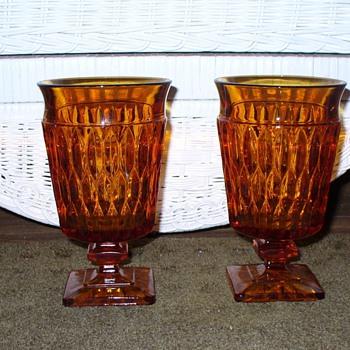 Amber Goblets - Glassware
