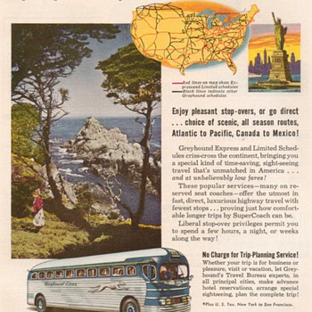 1951 - Greyhound Bus Lines Advertisements