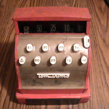 Tom Thumb toy cash register. - Coin Operated
