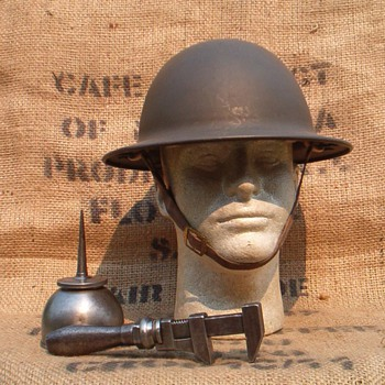 WWII B.F. McDonald Co.  steel helmet  - Military and Wartime
