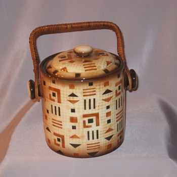 Czech Handled Biscuit  - Art Pottery