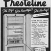1950 Presteline Refrigerator Advertisement