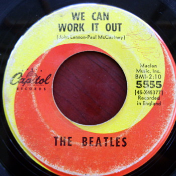 "The Beatles ""We Can Work it Out"" b/w ""Day Tripper"" 45rpm"