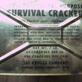 COLD WAR SURVIVAL CRACKERS-UNOPENED TIN - Advertising
