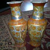 14 inch tall   Japanese?  Vases 