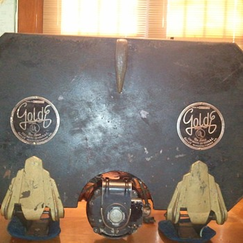 """GoldE, Film Splicing Station? or Rewinder, uses 2. 15"""" Reels. Need Info!"""