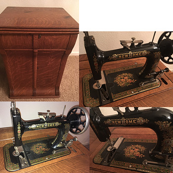 New Home Vintage Parlor Cabinet Sewing Machine - Sewing