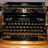 Rare Royal 1953 Quiet Deluxe Gold Portable Typewriter  Limited Edition  - Ian Fleming wrote 007 novels on one!
