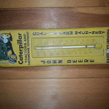 John Deere Caterpillar Thermometer