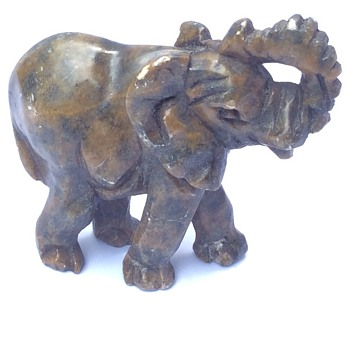Antique stone elephant