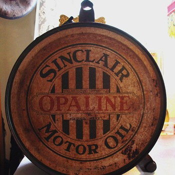 Sinclair Opaline Motor Oil...5 Gallon Oil Rocker Can...1920's