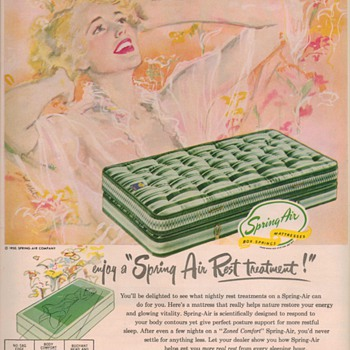 1950 Spring Air Mattress Advertisement - Advertising