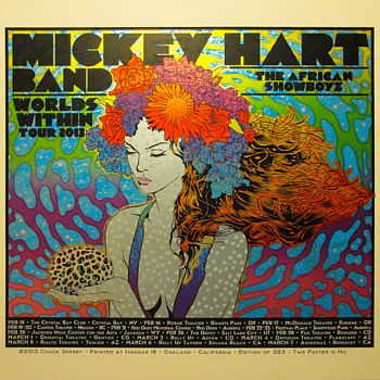 Chuck Sperry poster for Mickey Hart Band