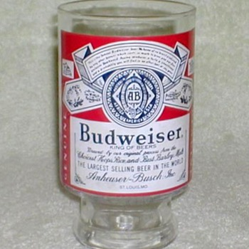 Budweiser Beer Glass - 32 oz. - Breweriana