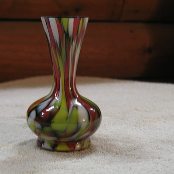 Small Spatter Vase - Art Glass