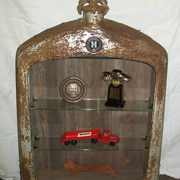 Repurposed Hupmobile radiator