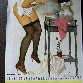 Vargas Calender Girls 1963  - Advertising