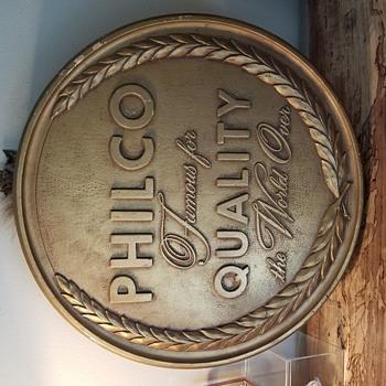 Philco medallion signs  - Radios