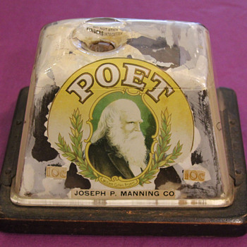 Antique POET Joseph P. Manning Co. Table Top Cigar Cutter - Tobacciana