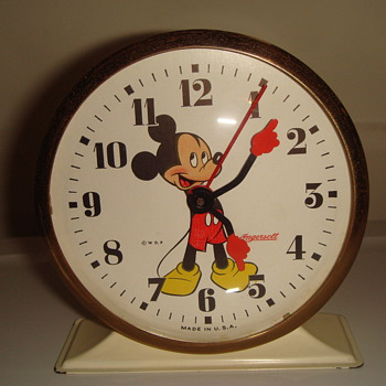 INGERSOLL MICKEY MOUSE WIND-UP ALARM CLOCK - Clocks