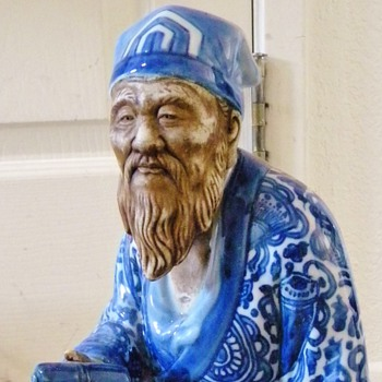Vintage Kutani Jurojin? Wise Man Porcelain Longevity Signed  - Asian