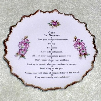 """Codes for Success"" Wall Plate - China and Dinnerware"