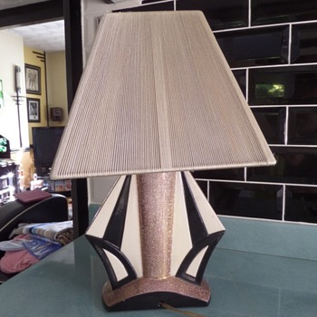 Art Deco Charles Harva Craquelle lamp base No 2