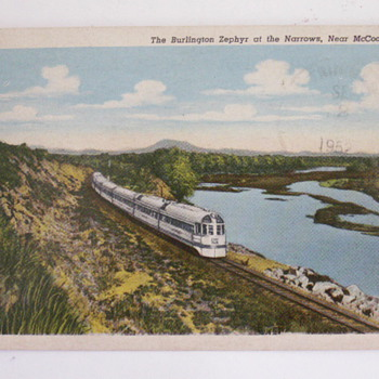 The Burlington Zephyr - Postcards