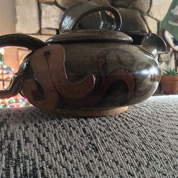 One cup teapot unique and interesting