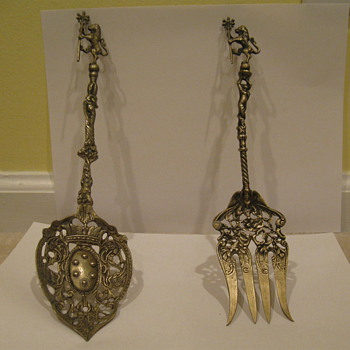 Italian decorative fork and spoon
