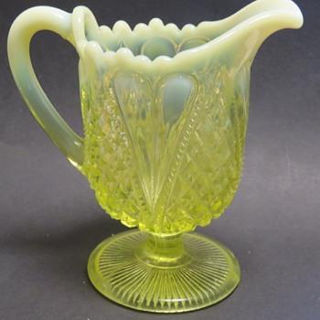 Vaseline Glass Jug / Creamer