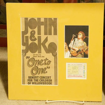 "John Lennon-""One To One"" ticket stub-1972 - Music"