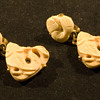 Trifari Crown Carved Bone Fish Cip-on Earrings