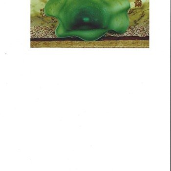 The big green clam - Art Glass