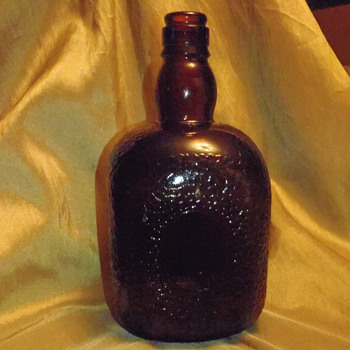 Amber Embossed Bottle