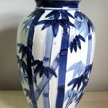Bamboo Vase - Art Pottery