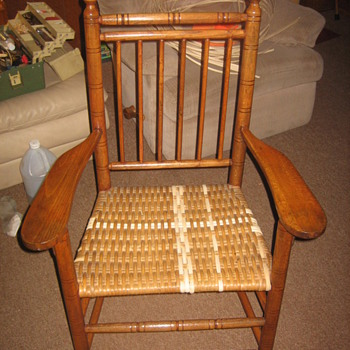 Rattan seated armchair - Furniture