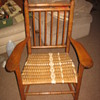 Rattan seated armchair