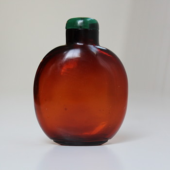 Amber Glass Floater Snuff Bottle