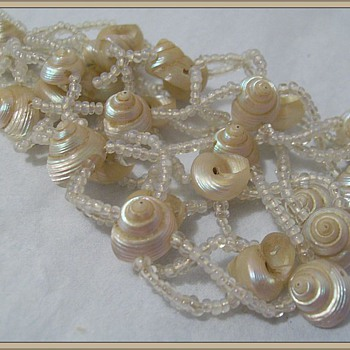 Victorian (? ) Shell Necklace