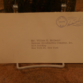 UNKNOWN CANCELLED POSTAL COVER, LOOKS LIKE,  HERBERT HOOVER - Stamps
